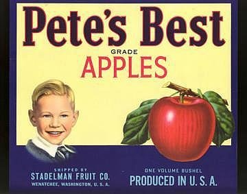 Pete's Best Apple Crate Label