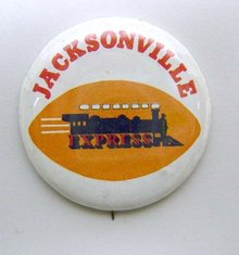 Jacksonville Express Train Pinbacks Pins