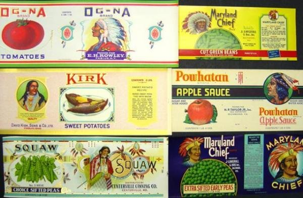 Indian Can Labels - 1938 Lot