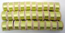Green Silk Thread on Wooden Spools 1950s