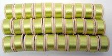 Green Silk Thread on Wooden Spools 1950s