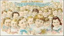 Joe Michl's Fifty Little Orphans Cigar Sign
