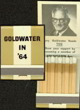Barry Goldwater 1964 Matchbook