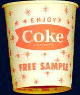 Coca-Cola Soda Cup - Sample 1960