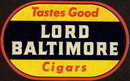 Lord Baltimore Cigar Decal 1930s