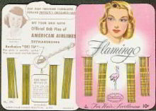 Flamingo Bobby Pin Hair Store Display Card 1950