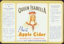 Queen Isabella Apple Cider Label
