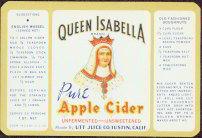 Queen Isabella Apple Cider Label