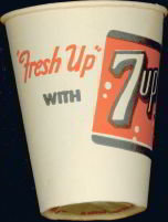 Fresh 7UP Soda Cup 1950s