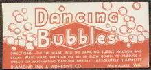 Dancing Bubbles Toy Label 1920s