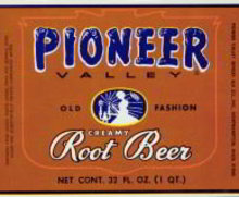 Pioneer Valley Root Beer Soda Label 1920s