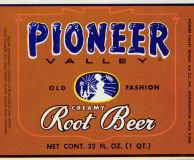 Pioneer Valley Root Beer Soda Label 1920s