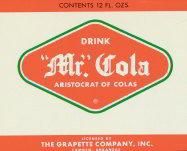 Mr. Cola Grapette Soda Bank Label 1960s