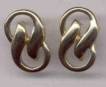 Goldtone Swirl Pierced Estate Earrings