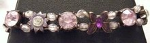 Beaded Stone Lavendar Purple Bracelet