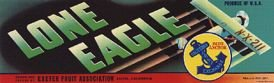 Lone Eagle Grape Crate Labels