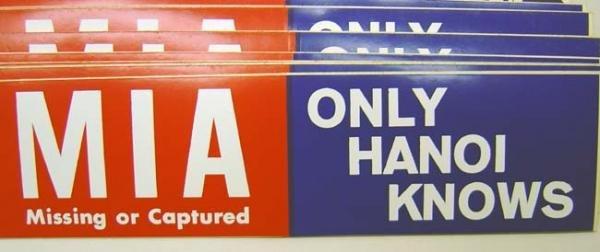 MIA Vietnam War POW Bumper Stickers