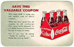 Coca-Cola Soda Free 6 Bottle Coupon Card