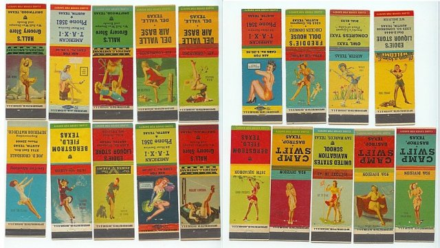 Pin-Up Girl Matchbook Covers