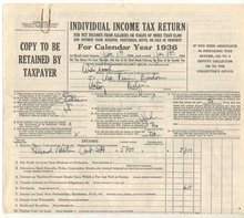 1040 IRS Tax Return 1936