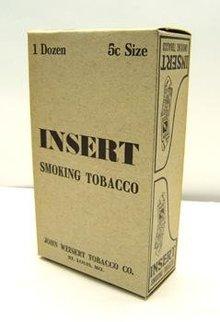 Insert Tobacco Display Box