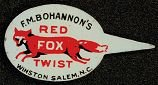 F.M. Bohannon's Tobacco Tin Tag Fox