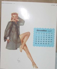Varga 1948 Pinup Calendar Sheet