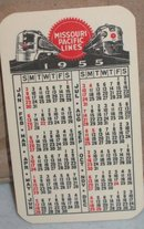 Missouri Pacific Railroad Calendar 1955