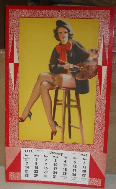 Pinup Calendar - 1962 Art Deco
