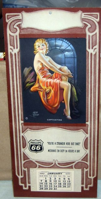 Phillips 66 Pinup Girl Calendar 1940