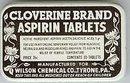 Cloverine Aspirin Medicine Tins