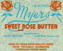 Myers Sweet Rose Butter Wrappers