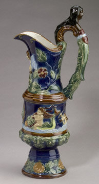 Porcelain Majolica Pitcher