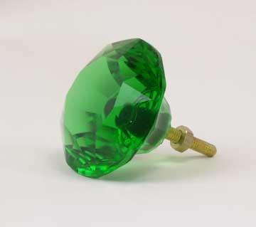 Green Glass Drawer Pulls 2.5