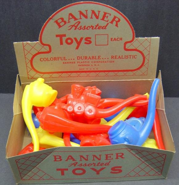 Banner Bubble Pipe Toy  Store Display 1960s