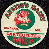 Austin's Dairy Milk Bottle Caps