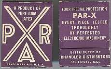 Par X Prophylactic Condom Box 1930s