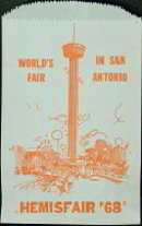 San Antonio World's Fair Hemisphere Bag