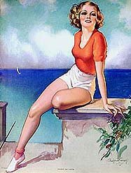 Crandell Pinup Litho Print - Accent on Youth