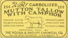 Mutton Tallow Camphor Medicine Label