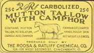 Mutton Tallow Camphor Medicine Label
