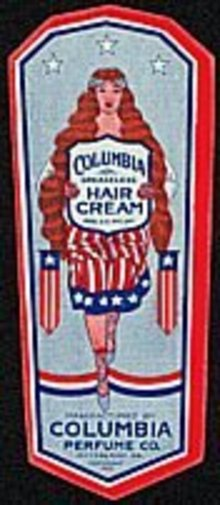 Patriotic Columbia Hair Tonic Labels