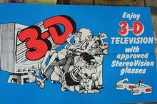 3-D  Glasses Television Poster 1970s