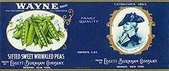 General Wayne Peas Labels