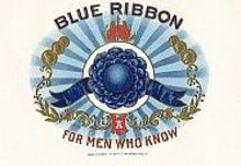Blue Ribbon Cigar Box Label 1920s