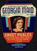 Georgia Maid Sweet Pickle Label