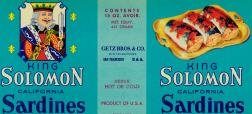 King Solomon Sardine Labels