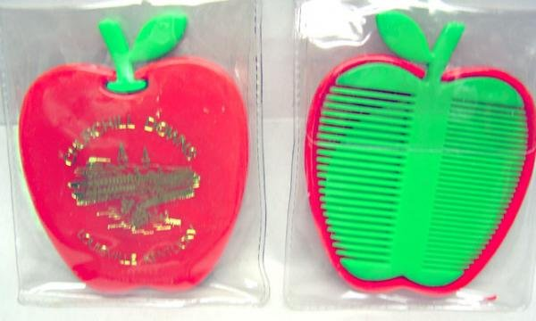 Churchill Downs Apple Mirror Comb Set 1960s Toy