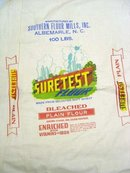 Suretest Cloth Flour Bag 1950s