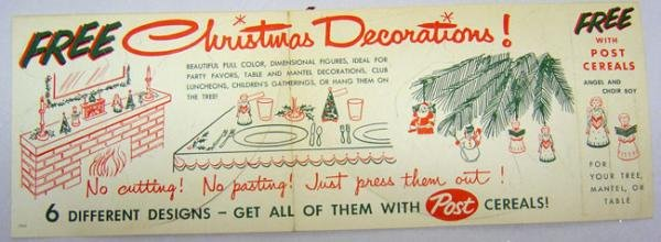 Post Cereal Giveaway Booklet 1950s